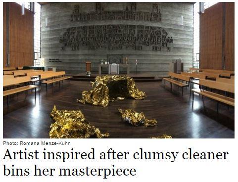 donna pulizie opera d'arte