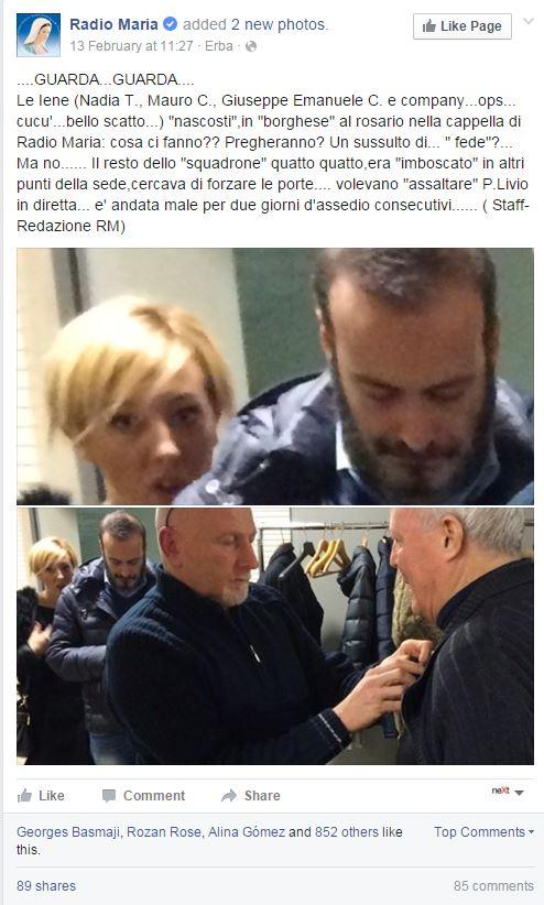 iene radio maria don livio fanzaga picchiati - 2