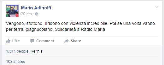 mario adinolfi iene radio maria aggressione - 1