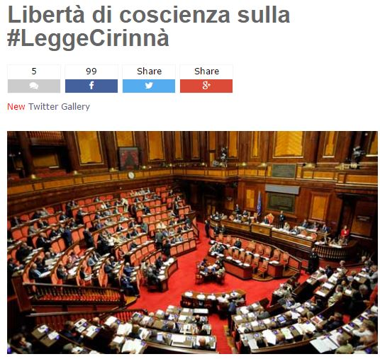Unioni civili, Renzi vede capigruppo Pd