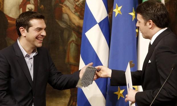 Αποτέλεσμα εικόνας για matteo renzi tsipras