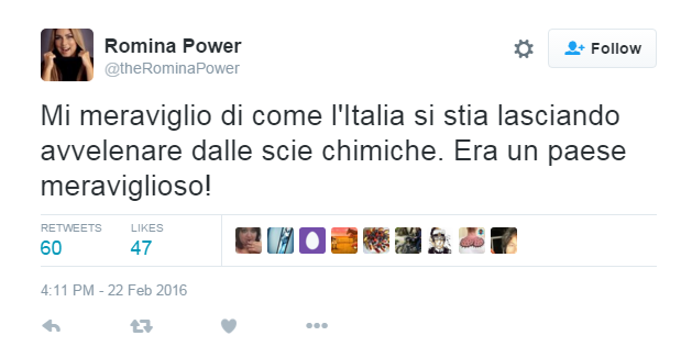 romina power scie chimiche twitter - 2
