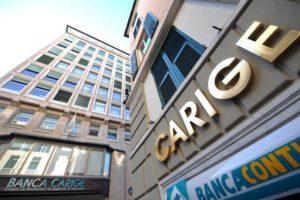Genova - via XXV Aprile - sede centrale palazzo Banca Carige