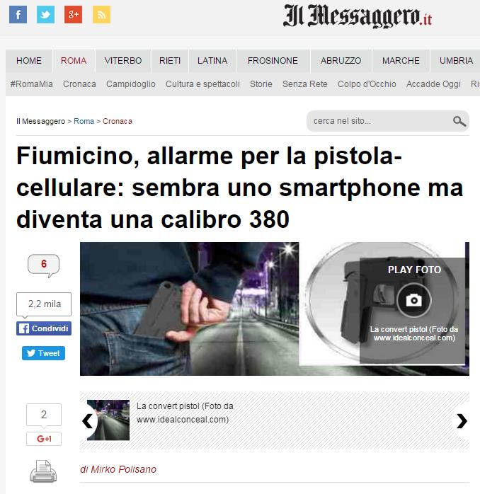 fiumicino convert pistol allarme - 1