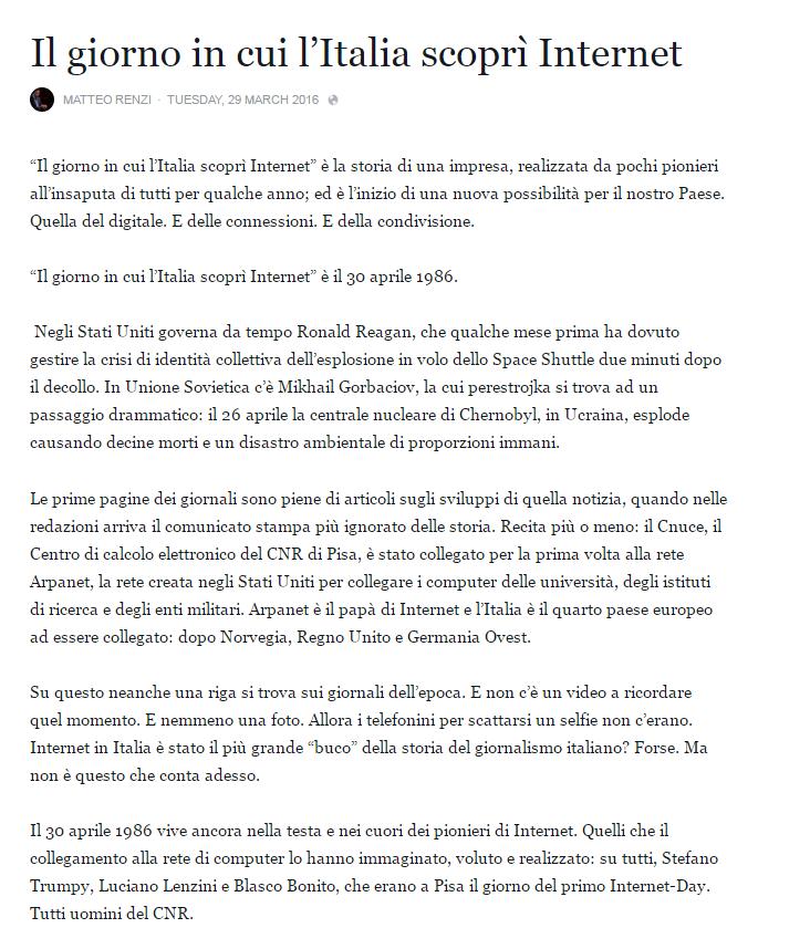 italian internet day matteo renzi - 2