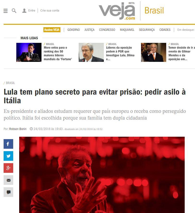 lula rifugiato politico italia