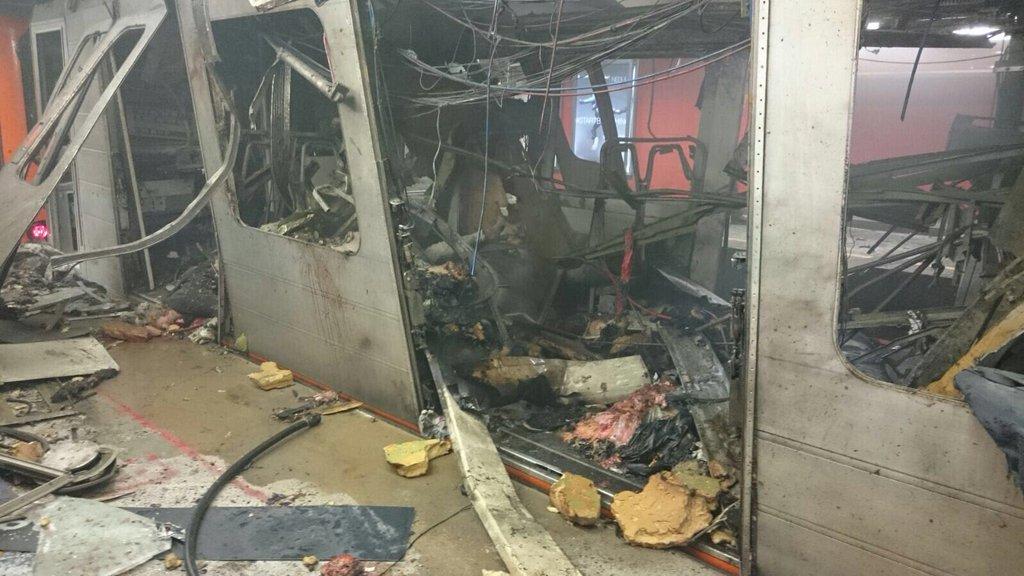 maelbeek metro distrutta