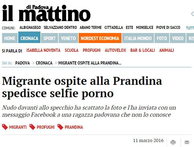 migrante selfie porno
