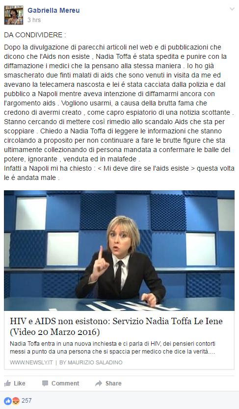 negazionisti aids toffa iene mereu - 1