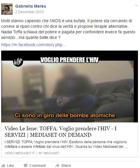 negazionisti aids toffa iene mereu vaccaro - 3