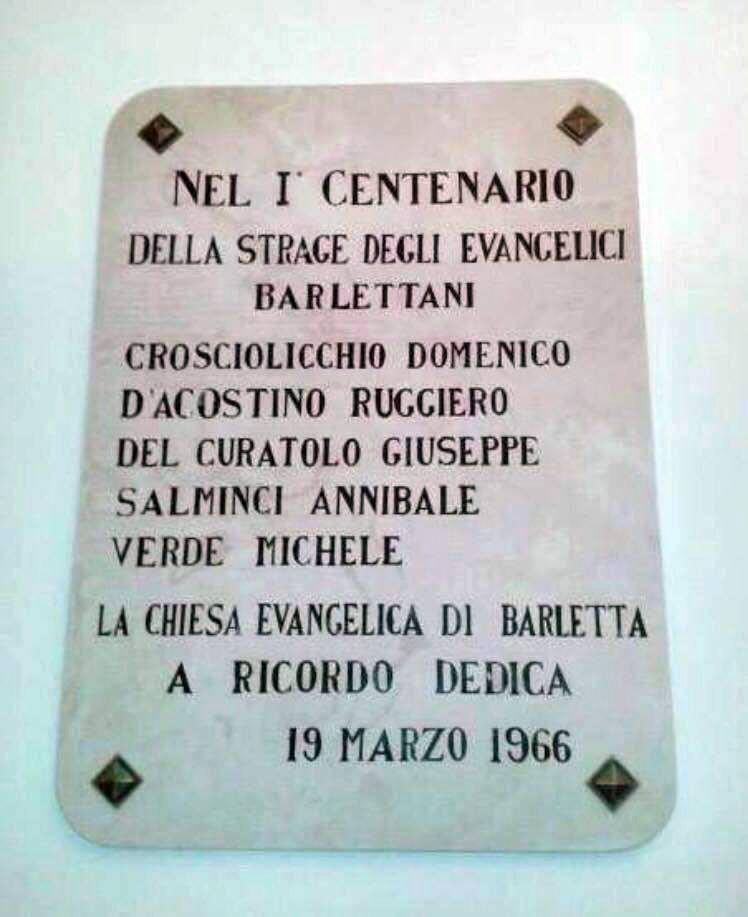 strage evangelici barletta 19 marzo 1866 - 1
