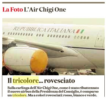 tricolore bandiera contrario air force renzi 1