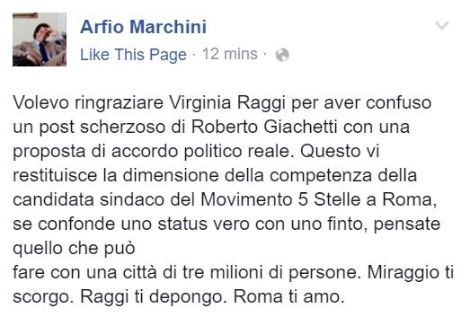 arfio marchini virginia raggi