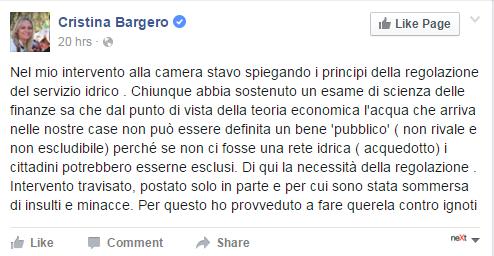 danilo toninelli cristina bargero insulti - 5