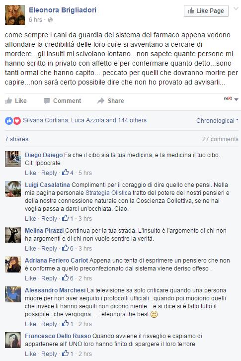 eleonora brigliadori carrina huff cancro - 2