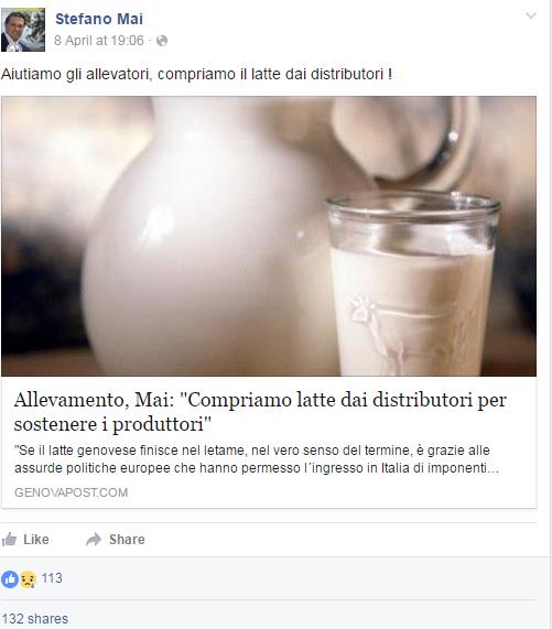 latte ligure parmalat m5s stefano mai - 2