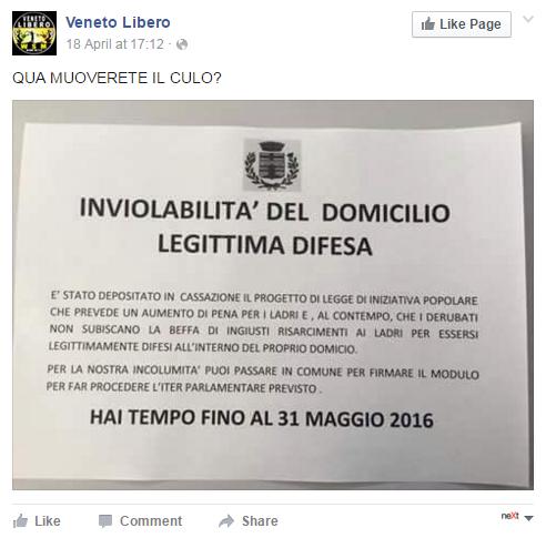 legittima difesa idv raccolta firme - 1