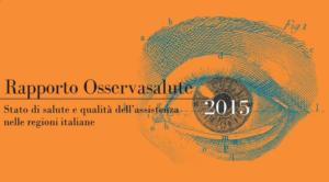 osservatorio salute 2015 qualità della vita italia - 2