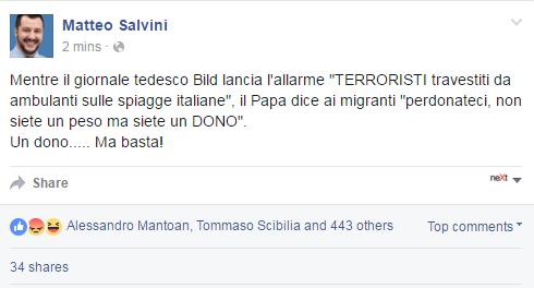 vù cumprà kamikaze bild salvini bufala - 1