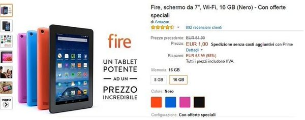 amazon kindle fire 1 euro