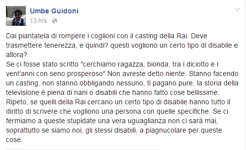 casting disabili tenerezza umberto guidoni - 2