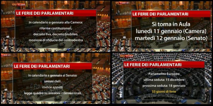 ferie parlamentari
