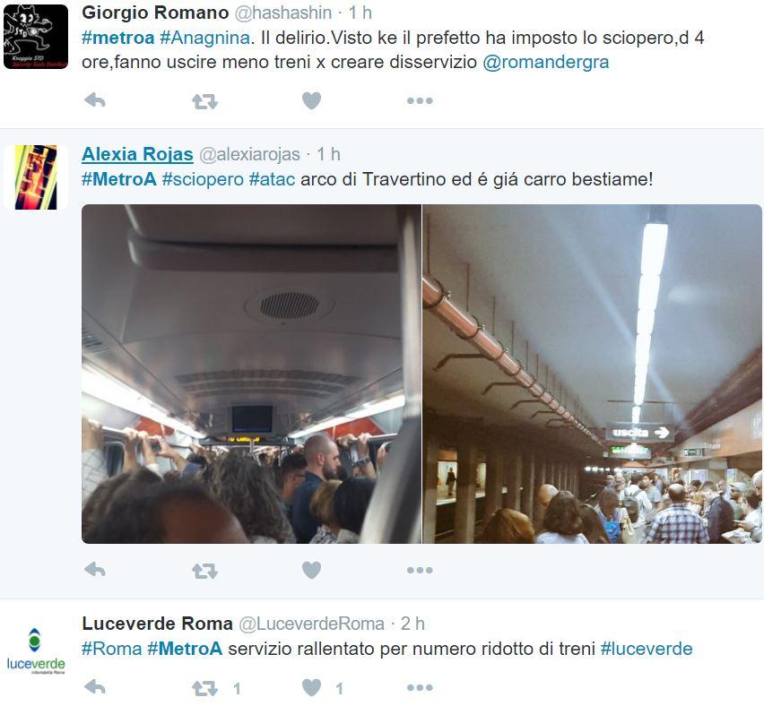 metro sciopero roma