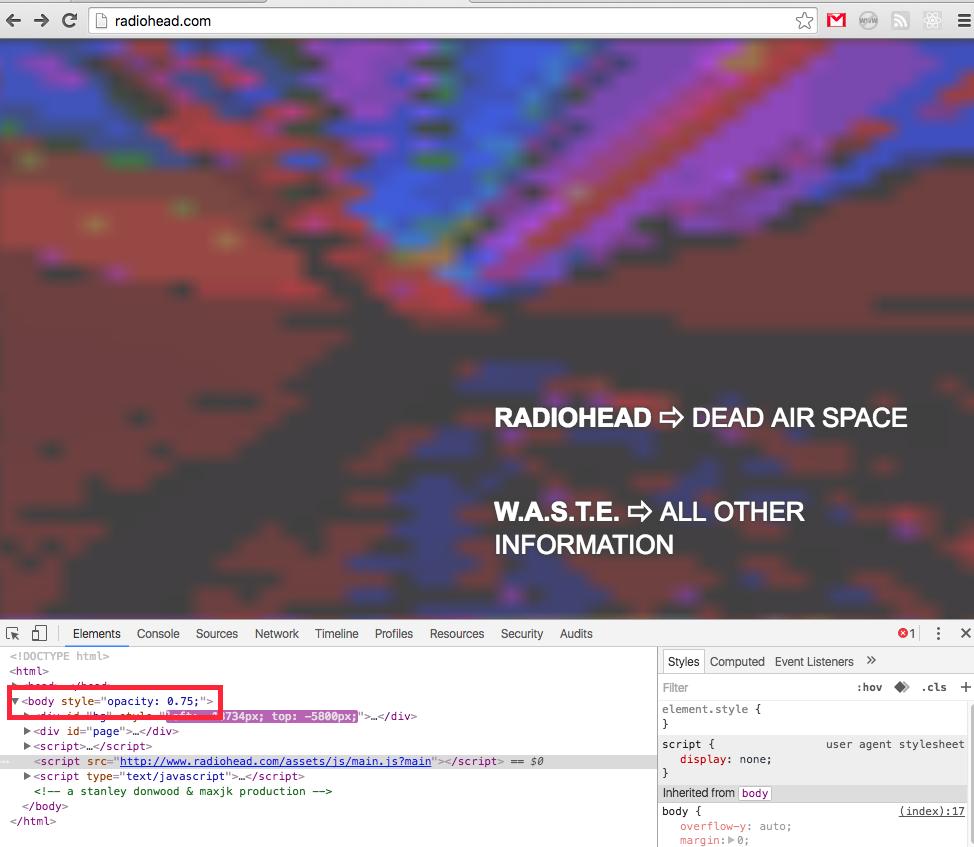 radiohead scomparsi internet - 2