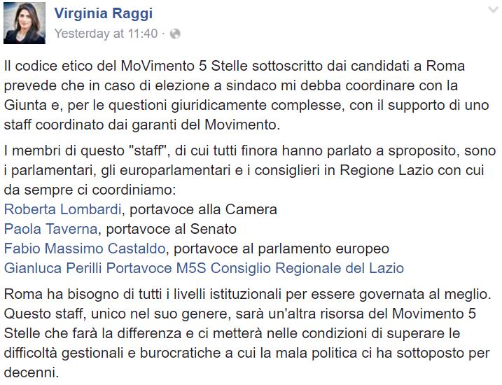 virginia raggi staff 1