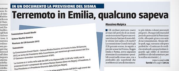 vittorio feltri terremoto emilia