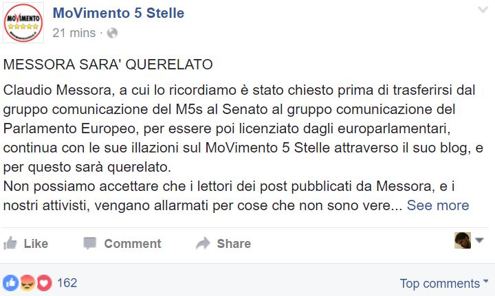 claudio messora movimento 5 stelle