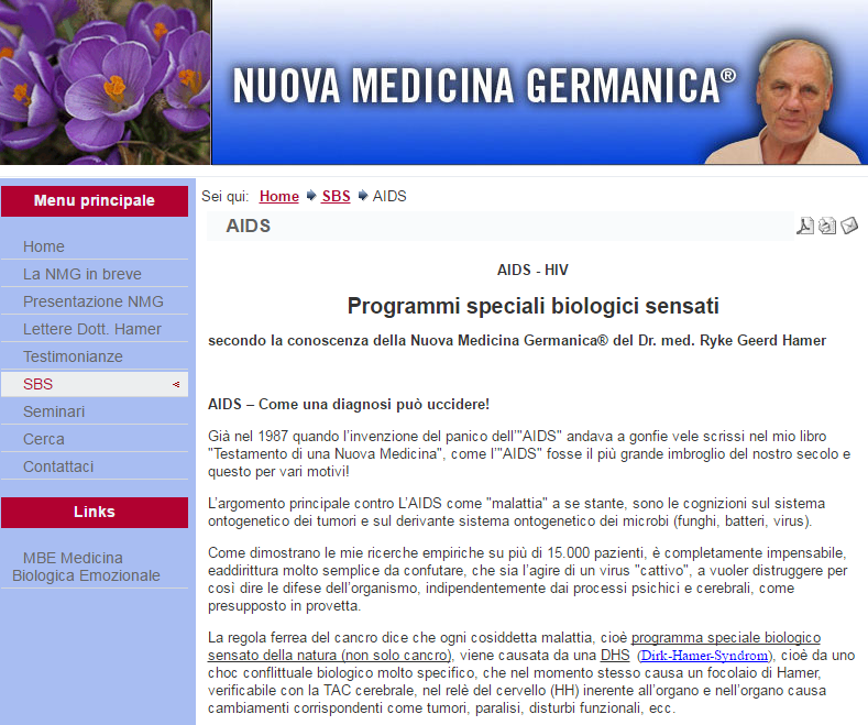 hamer nuova medicina germanica - 2