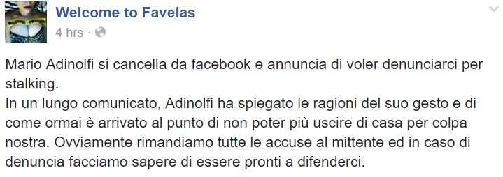 mario adinolfi facebook welcome to favelas 1