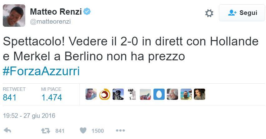 matteo renzi tweet