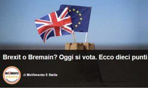 movimento 5 stelle referendum euro