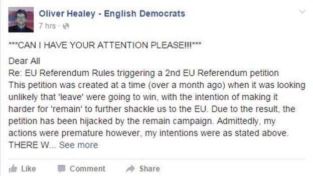 petizione referendum brexit 1