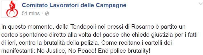 rosarno protesta carabiniere 3