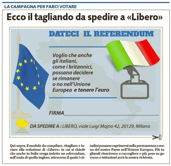 tagliando uscire europa euro