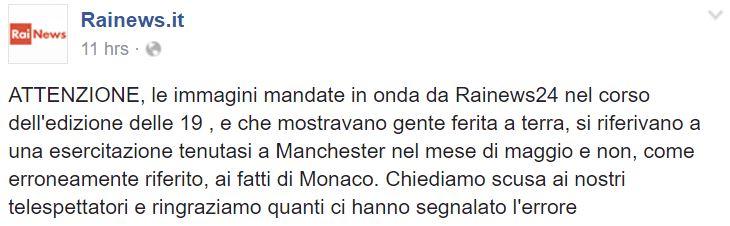 ATTENTATO MONACO RAINEWS