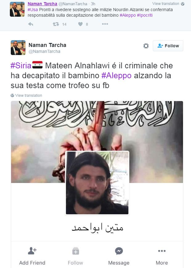 bambino decapitato siria video - 2