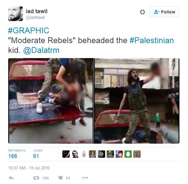 bambino decapitato siria video - 3