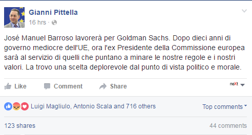 gianni pittella barroso goldman sachs - 1