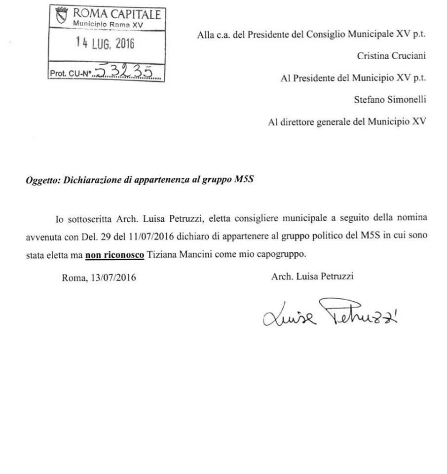 luisa petruzzi municipio XV
