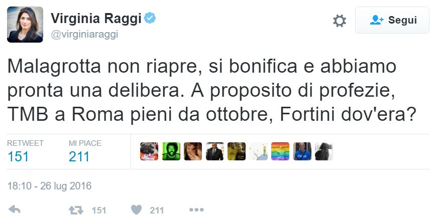 virginia raggi daniele fortini