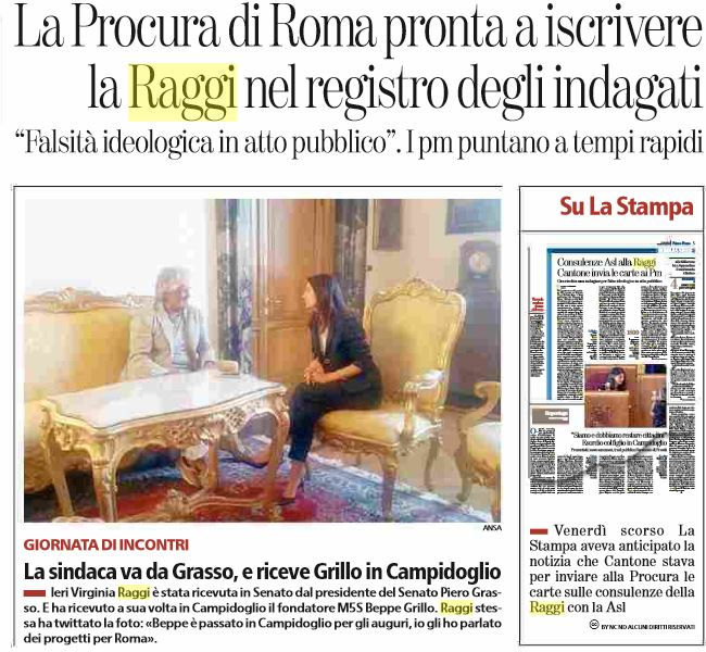virginia raggi registro indagati