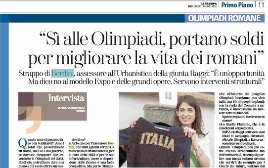 paolo berdini olimpiadi roma