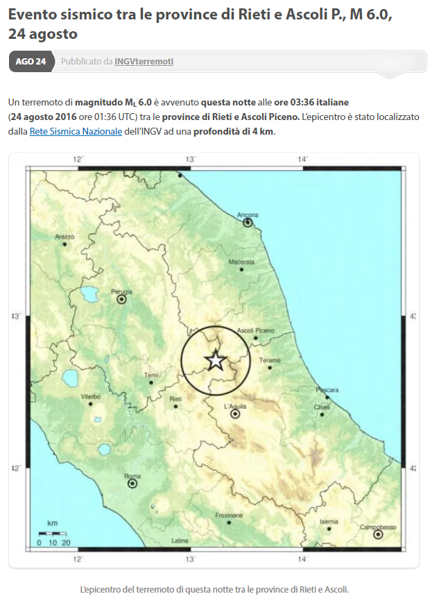 risarcimento danni terremoto magnitudo - 2