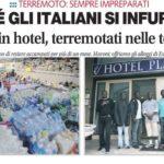 stranieri hotel terremotati tendopoli