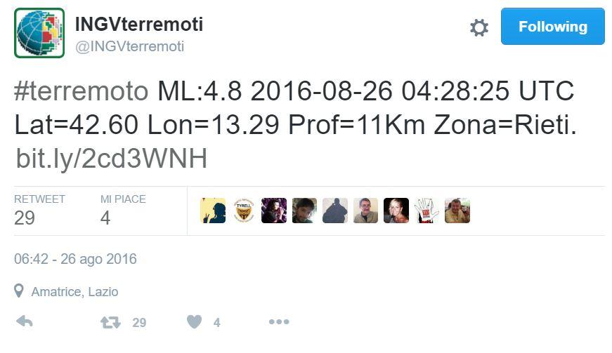 terremoto amatrice 4.8 magnitudo 1
