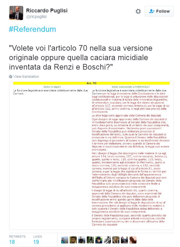 articolo 70 costituzione lunghezza riforma renzi boschi